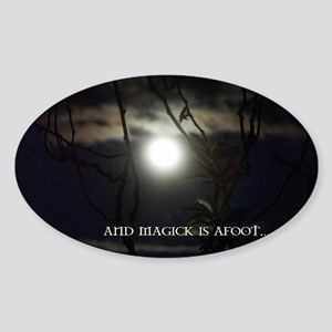Full Moon Card Sticker (Oval)
