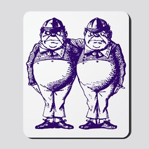 Tweedle Dee and Tweedle Dum Purple Mousepad