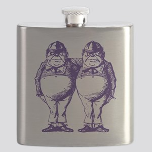 Tweedle Dee and Tweedle Dum Purple Flask