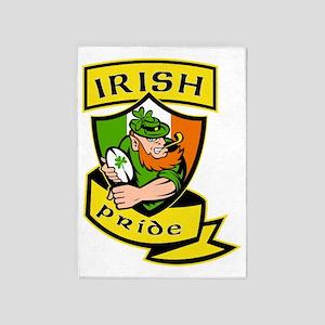 Irish leprechaun rugby player celti 5'x7'Area Rug