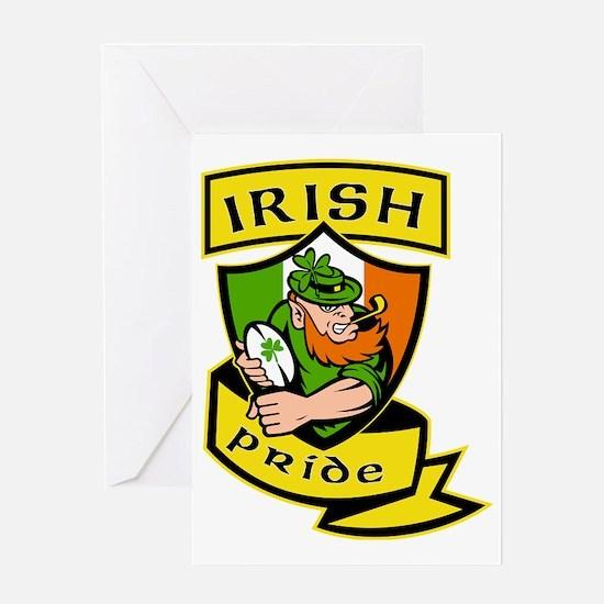 Irish leprechaun rugby player celtic Greeting Card