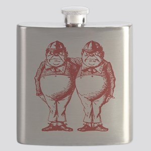 Tweedle Dee and Tweedle Dum Red Flask