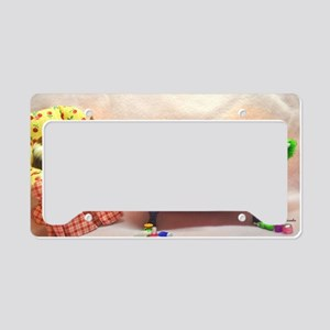 Baby Pigs Tubby Time Large License Plate Holder