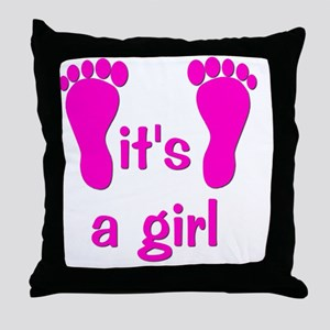 feet_itsagirl Throw Pillow