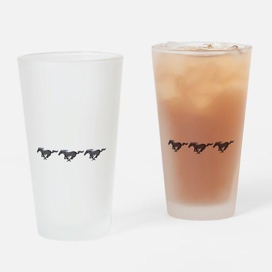 Mens mustang Drinking Glass