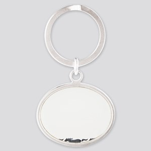 Mens mustang Oval Keychain