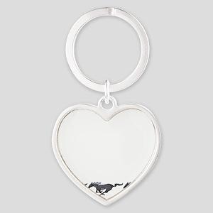 Mens mustang Heart Keychain