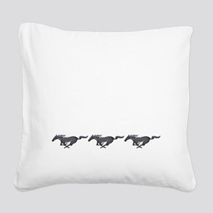 Mens mustang Square Canvas Pillow