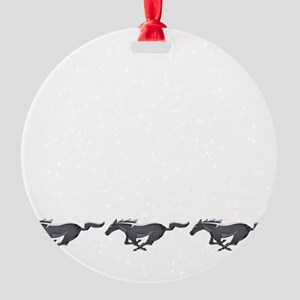 Mens mustang Round Ornament