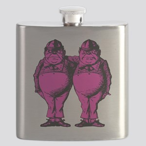Tweedle Dee and Tweedle Dum Pink Fill Flask