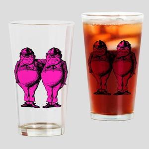 Tweedle Dee and Tweedle Dum Pink Fi Drinking Glass