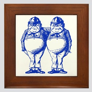 Tweedle Dee and Tweedle Dum Blue Framed Tile