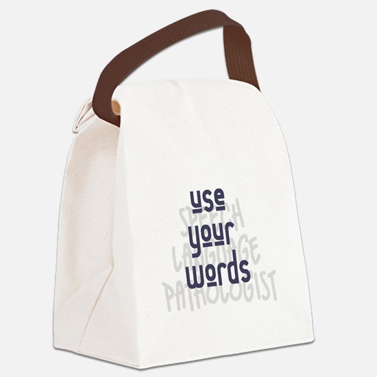 Use Your Words 2 Canvas Lunch Bag