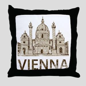 vienna_bk Throw Pillow