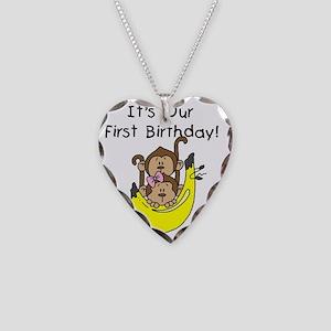 MONKEYTWGIRLBOYBDAY Necklace Heart Charm