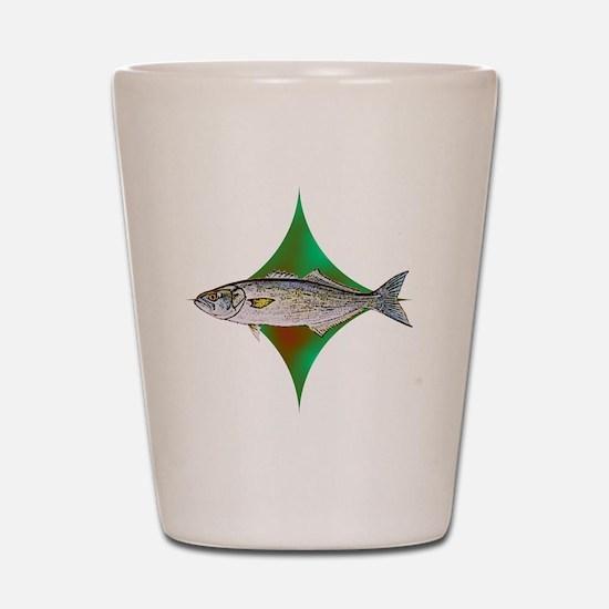 bluefishpocketlogo Shot Glass