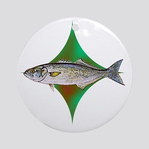 bluefishpocketlogo Round Ornament