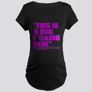 This is a big deal purple Maternity Dark T-Shirt