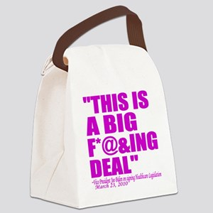 This is a big deal purple Canvas Lunch Bag