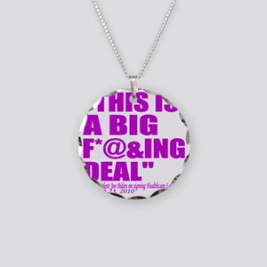 This is a big deal purple Necklace Circle Charm