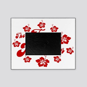 2010 FH Hibiscus Red Wht Strk Picture Frame