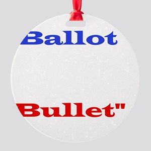 Ballot Bullet white Round Ornament