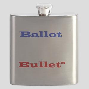 Ballot Bullet white Flask