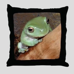 hellofrog Throw Pillow