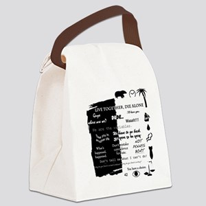 best lines lost text and pictures Canvas Lunch Bag