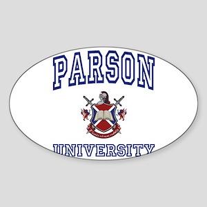 PARSON University Oval Sticker