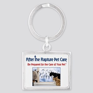 ATRPC - cats at window Landscape Keychain