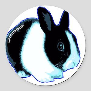 bunny Round Car Magnet