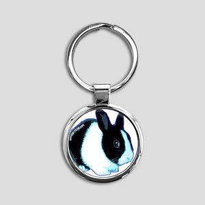 bunny Round Keychain