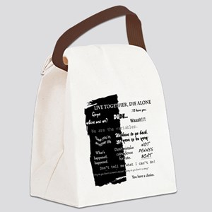 best lines lost text only Canvas Lunch Bag