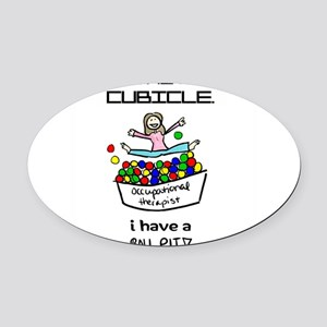 I Have a Ball Pit-- OT Oval Car Magnet