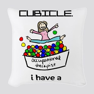 I Have a Ball Pit-- OT Woven Throw Pillow
