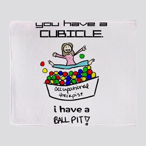 I Have a Ball Pit-- OT Throw Blanket