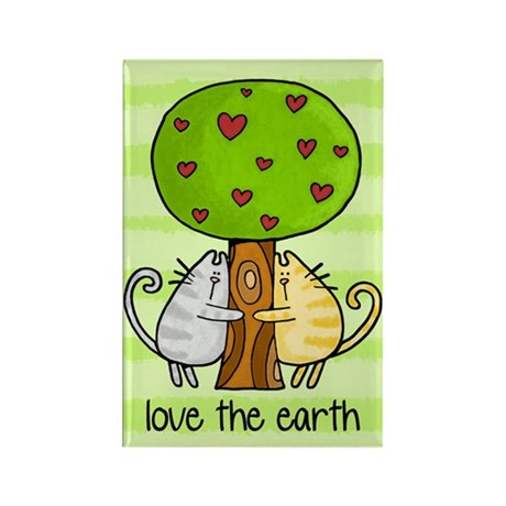 love the earth Rectangle Magnet