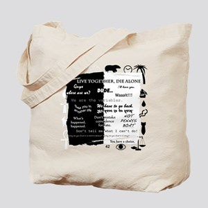 best lines lost text and pictures copy Tote Bag