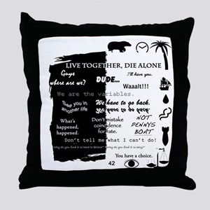 best lines lost text and pictures cop Throw Pillow
