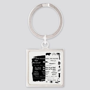 best lines lost text and pictures  Square Keychain
