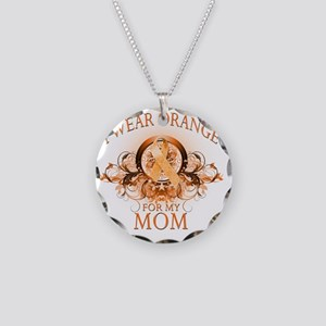 I Wear Orange for my Mom (fl Necklace Circle Charm
