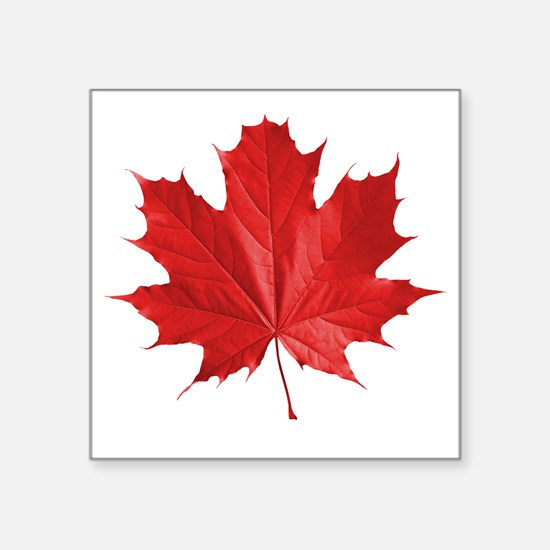 "red maple leaf t-shirt Square Sticker 3"" x 3"""