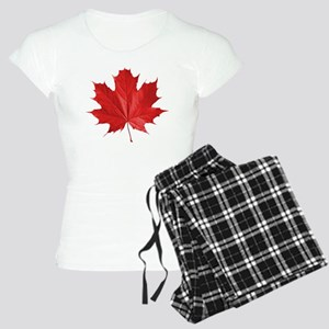 red maple leaf t-shirt Women's Light Pajamas