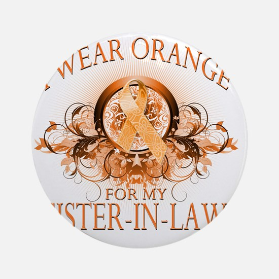 I Wear Orange for my Sister In Law  Round Ornament