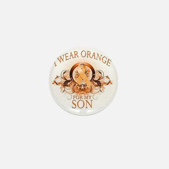 I Wear Orange for my Son (floral) Mini Button