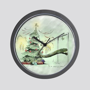 In the Madness of Christmas Wall Clock