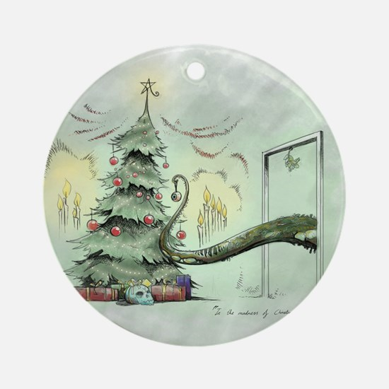 In the Madness of Christmas Round Ornament