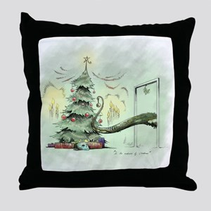 In the Madness of Christmas Throw Pillow