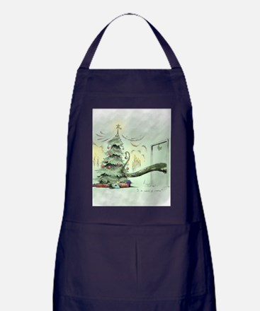 In the Madness of Christmas Apron (dark)